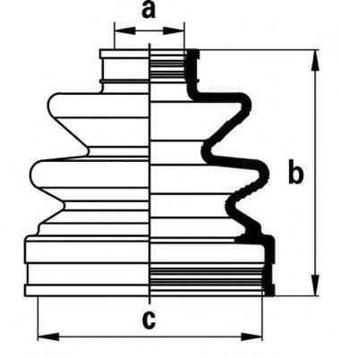 Пыльник приводного вала Mitsubishi MB886676