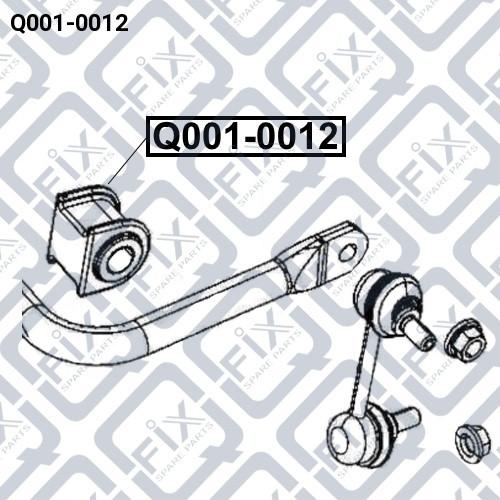 Втулка заднего стабилизатора Q-FIX Q0010012