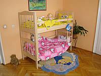 Ліжко двоярусне з натурального дерева Мар'яна