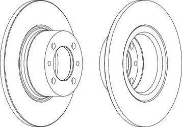 Тормозной диск Ferodo DDF035