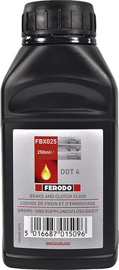 Тормозная жидкость DOT-4, 0.25л Ferodo FBX025