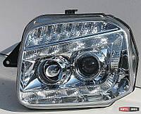 Оптика передняя Suzuki Jimny 1998-2018 тюнинг, хром JunYan
