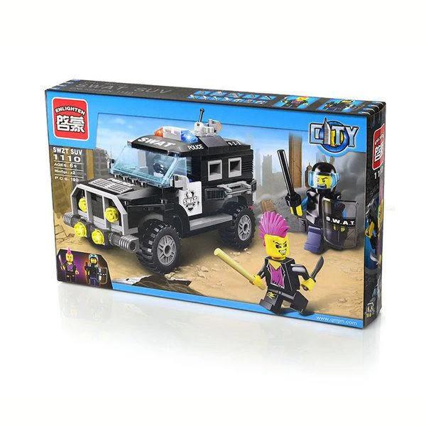 """Конструктор Brick 1110 """"Полицейская машина"""" 190 деталей"""