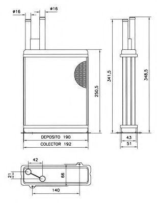 Радиатор отопителя Magneti Marelli 350218060003