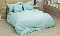 Полуторный Комплект постельного белья из страйп сатина высокого качества