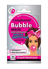 Кислородная маска-шипучка для лица подтягивающая с фруктовыми кислотами Cаше Bubble Mask Compliment 7 мл.