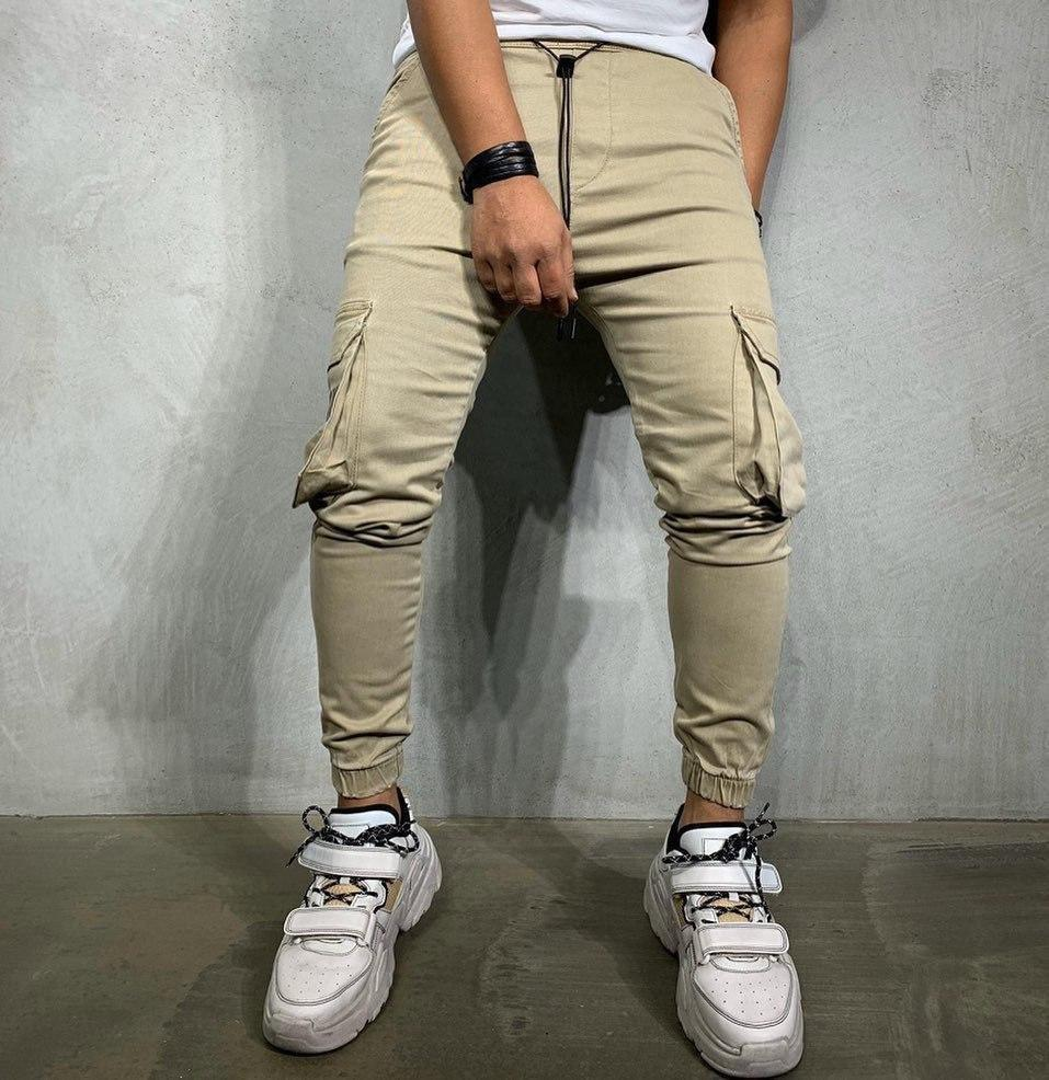 Песочные карго штаны