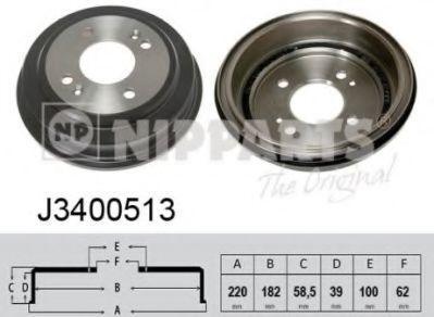 Тормозной барабан Nipparts J3400513