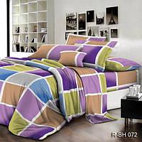 """Комплект постельного белья """"Color Rectangle"""" Ранфорс Color Rectangle-R-BH072, Семейный комплект"""