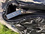 Женская сумка Chanel большая черная. Фото в живую. Люксовая реплика, фото 2