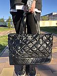 Женская сумка Chanel большая черная. Фото в живую. Люксовая реплика, фото 3