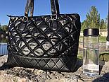 Женская сумка Chanel большая черная. Фото в живую. Люксовая реплика, фото 5