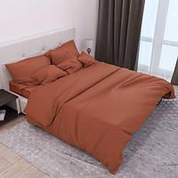 Комплект постельного белья «ST220 Fox» Страйп Сатин ST220-Fox, Семейный комплект
