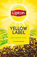 4-чай Липтон Yellow Label 80г. Листовой