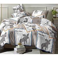 Комплект постельного белья «Лоси» Сатин Losi-3112, Семейный комплект