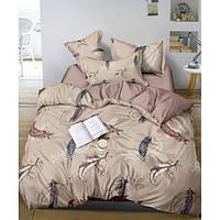 Комплект постельного белья «Перья» Сатин Perya-1956AB, Семейный комплект