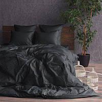 Комплект постельного белья «Black» Страйп Сатин Black, Семейный комплект
