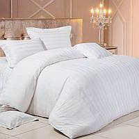 Комплект постельного белья «White» Страйп Сатин White, Семейный комплект