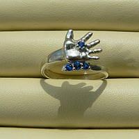 """Кольцо """"Ручка младенца"""", серебро 925пробы, камни фианит"""