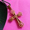 Золотой крестик с бриллиантами - Крестик женский с бриллиантами, фото 3