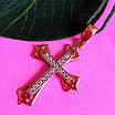 Золотой крестик с бриллиантами - Крестик женский с бриллиантами, фото 2