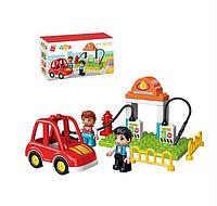 """Детский конструктор с крупными деталями """"Автозаправка"""", 19 деталей , Qman (5101)"""