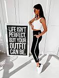 Спортивные штаны женские. Цвет: чёрный, бежевый. Размер: 42-44, 44-46, фото 4