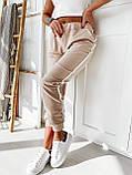 Спортивные штаны женские. Цвет: чёрный, бежевый. Размер: 42-44, 44-46, фото 2