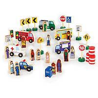 Игровой набор Guidecraft фигурок и машин Block Play к Дорожной системе, 36 деталей (G6717)