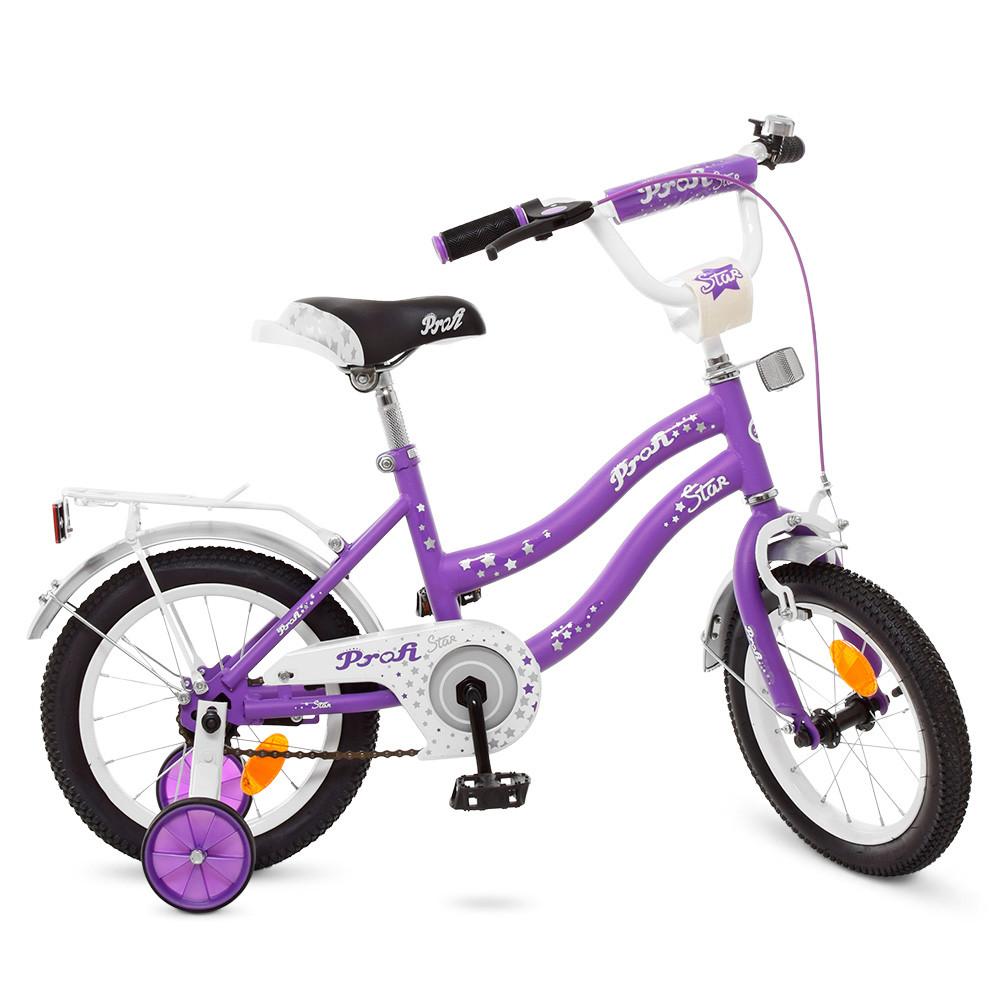 Велосипед детский PROF1 14 Д. Y1493 сиреневый