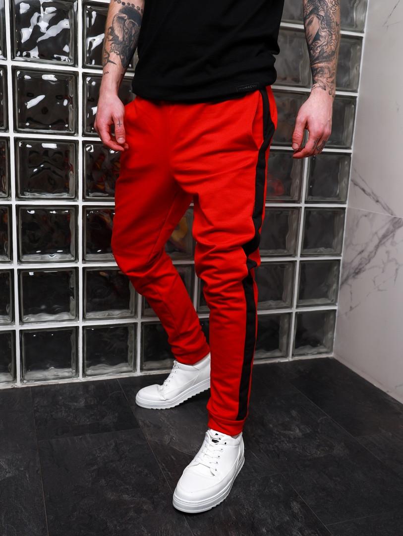 Стильные мужские спортивные штаны,красного цвета