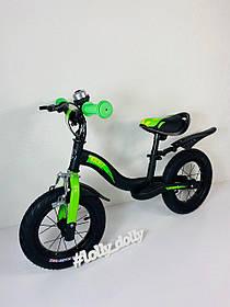 Беговел Tilly Balance Rocket надувные колеса 12 дюймов, Green
