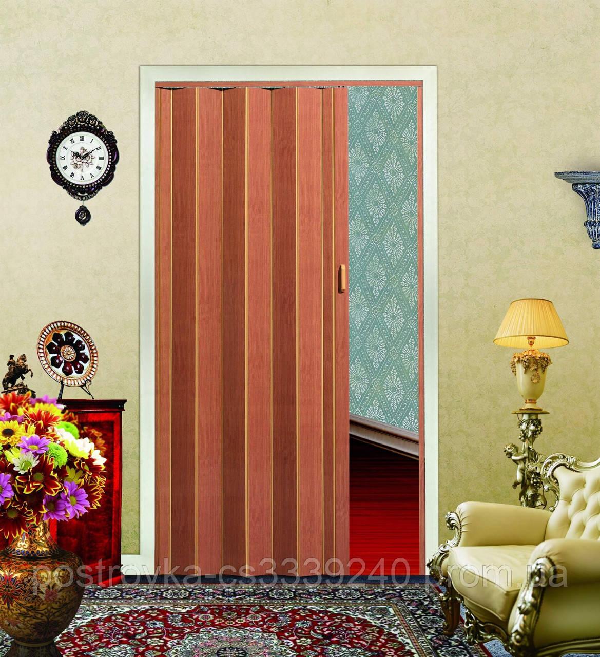 Двери гармошка Мербау Folding  межкомнатные , глухие, складные, раздвижные, пластиковые, скрытые (без стела)