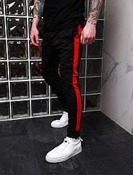 Стильные мужские спортивные штаны,черного цвета