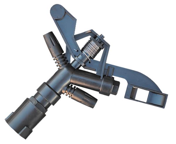 """ECO LINE Ороситель пульсирующий, пластиковый, РВ 1"""" AQUA JET (?36 метров), AJ-TS6007N"""
