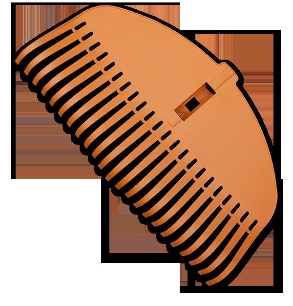 Грабли пластиковые TQ, 23 эластичных зубца, без черенка, TQ-G23