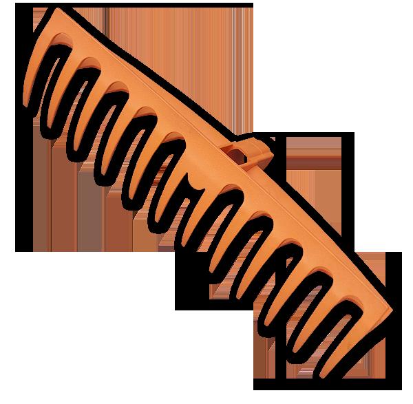 Грабли пластиковые TQ, 12 эластичных зубцов, без черенка, TQ-G12