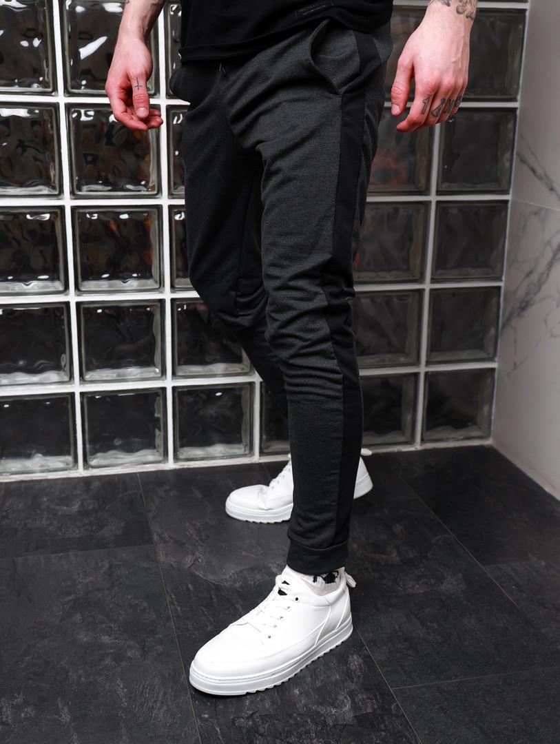 Мужские стильные штаны с лампасами