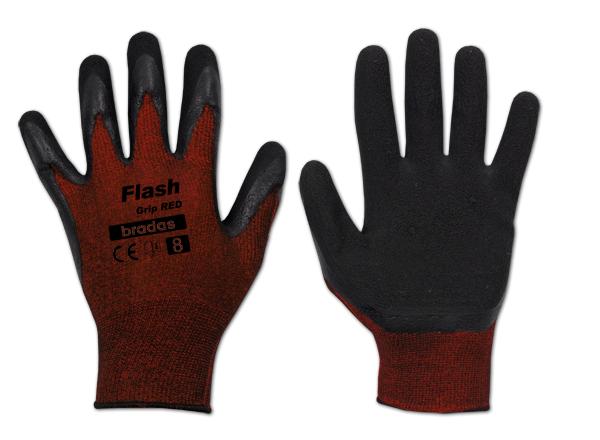 Перчатки защитные FLASH GRIP RED латекс, размер 11, блистер, RWFGRD11