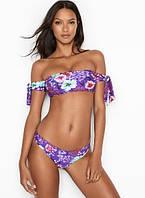 Купальник Бандо Victoria's SecretЛиф р. S / Плавки р. XS, Фиолетовый с цветами