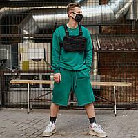 Комплект летний оверсайз Bum x green / Футболка + шорты, фото 1
