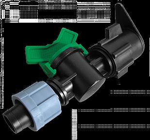 Старт-Коннектор лента/ плоский шланг с миникраном, DSTZ07-1701L