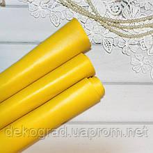 Эко кожа Жёлтый 25х50 см