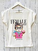 Женская футболка. S -L размеры.