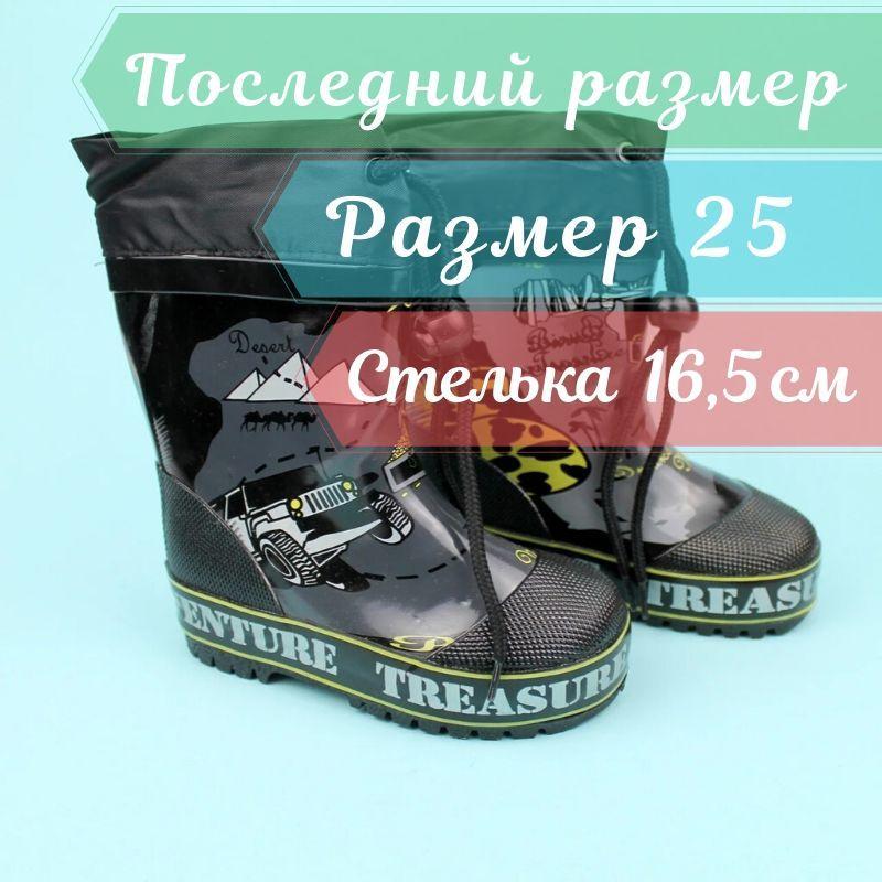 Дитячі Гумові чоботи для хлопчика тм Джип Bi&Ki розмір 25