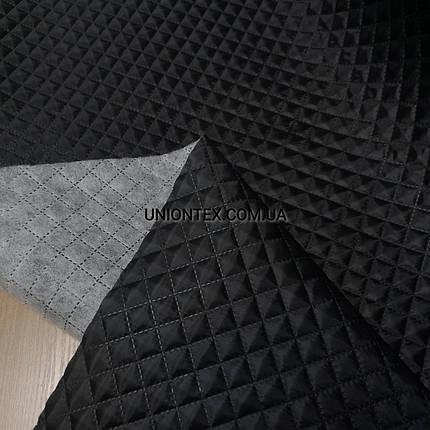 """Подкладка на синтапоне """"паянка"""" ромб черная, фото 2"""
