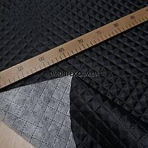 """Подкладка на синтапоне """"паянка"""" ромб черная, фото 3"""