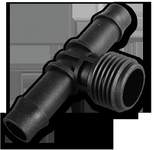 """Тройник РН 1/2"""". 2 x Соединитель для трубки 13мм (2 шт), DSA-4113"""
