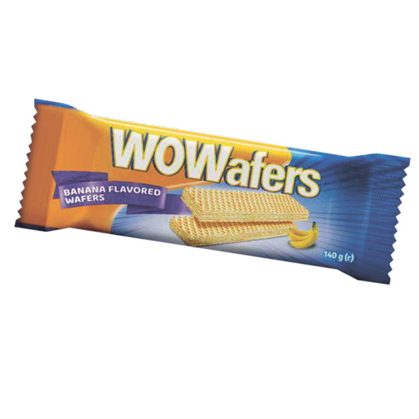 "Вафли Lord ""Wowafers cocoa"" вкус банан фасованные 140г."
