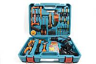 Набор инструментов и аккумуляторный шуруповерт MAKITA DF330DWE в кейсе (Шуруповерт Макита)